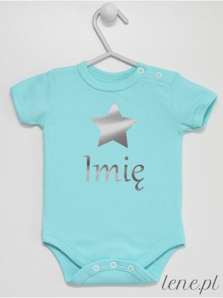 Gwiazdka Srebrna z Imieniem - body niemowlęce