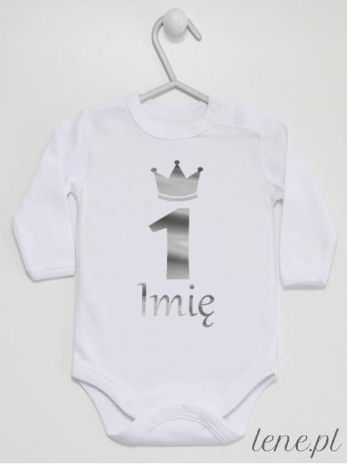 Body niemowlęce  Jedynka Srebrna + Imię
