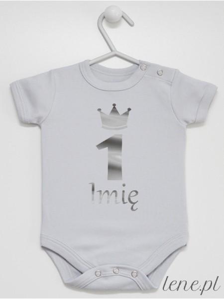 Jedynka Srebrna Z Imieniem - body niemowlęce
