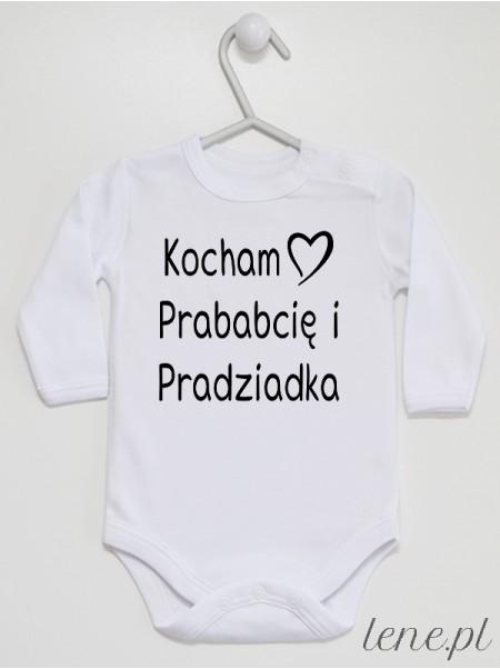 Kocham Prababcię i Pradziadka 01 - body niemowlęce