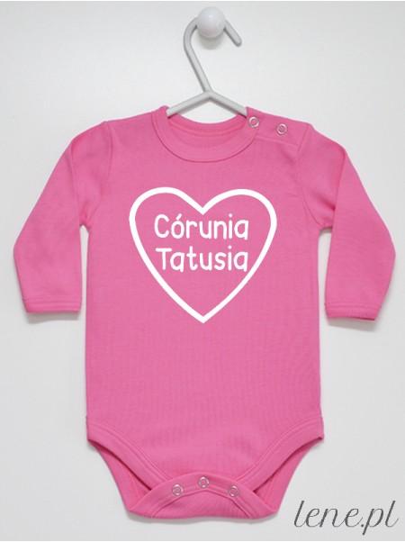 Córunia Tatusia Napis w Sercu - body niemowlęce dla dziewczynki