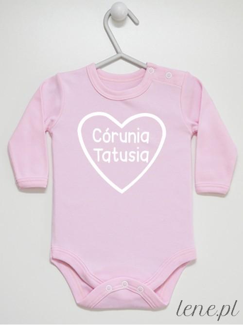 Body niemowlęce Córunia Tatusia różowe długi rękaw rozmiar 56