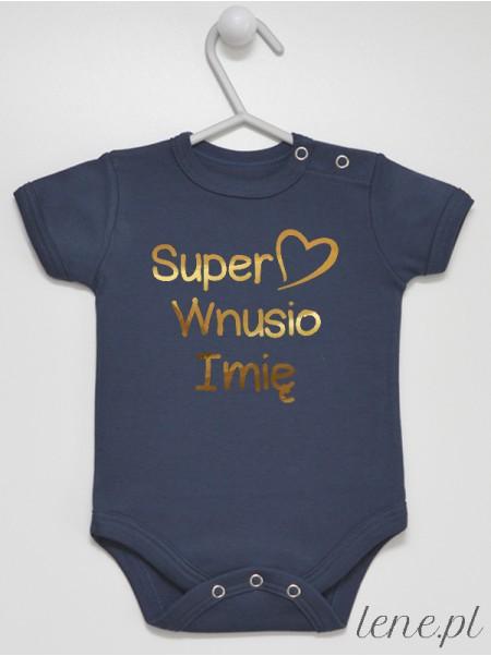Super Wnusio + Imię 01 Nadruk Złoty - body niemowlęce