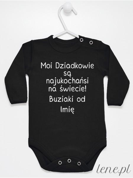 Moi Dziadkowie Są Najukochańsi Na Świecie Buziaki Od + Imię - body niemowlęce