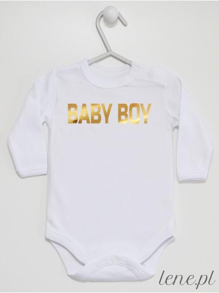 Baby Boy Złoty Nadruk - body niemowlęce