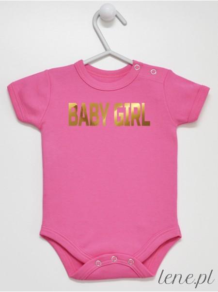Baby Girl Złoty Nadruk - body niemowlęce