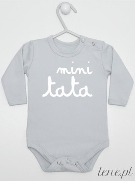 Mini Tata Nadruk Biały - body dziecięce z nadrukiem dla taty