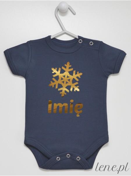 Śnieżynka + Twoje Imię 01 - body niemowlęce