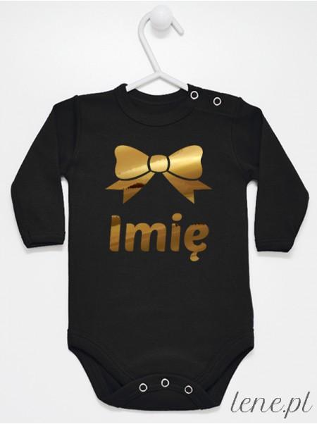 Kokarda Złota + Imię Dziecka - body niemowlęce