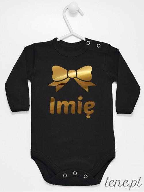 Body niemowlęce Kokarda Złota + Imię Dziecka