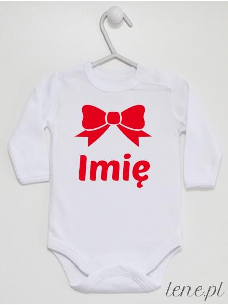 Kokarda Czerwona + Imię Dziecka - body niemowlęce