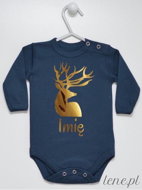 Body niemowlęce Złoty Jeleń + Twoje Imię