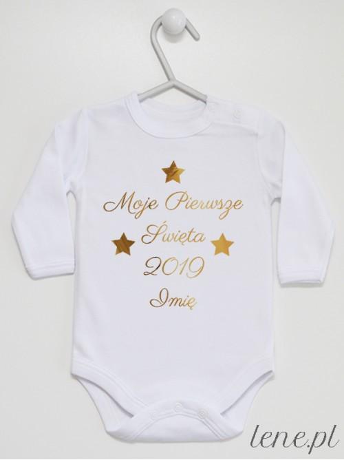 Body niemowlęce Moje Pierwsze Święta + Twoje Imię i Rok