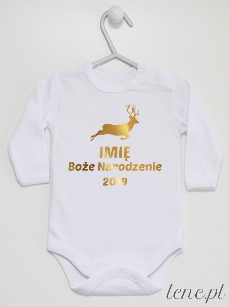 Boże Narodzenie + Twoje Imię i Rok - body niemowlęce