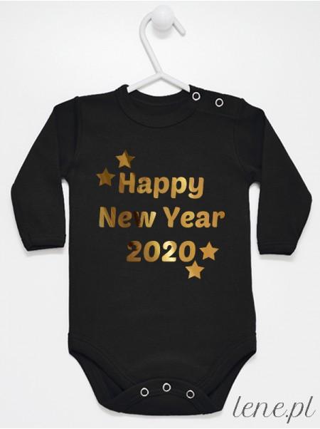 Happy New Year + Rok - body niemowlęce