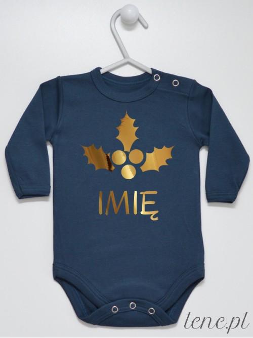 Body niemowlęce Ostrokrzew Złoty + Imię