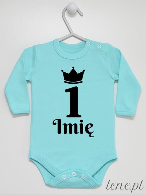 Body niemowlęce Jedynka w Koronie + Imię