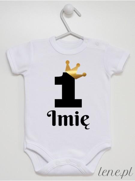 Jedyneczka w Złotej Koronie + Imię - body niemowlęce