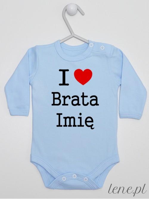 Body niemowlęce I Love Brata + Imię 01