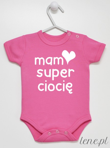 Mam Super Ciocię 01 - body niemowlęce