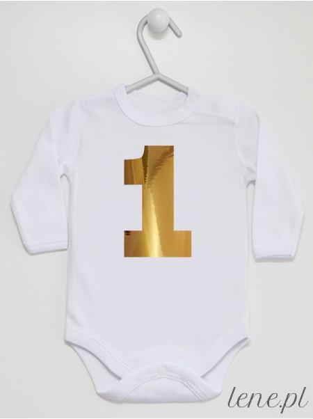 Na Roczek Złota Jedynka - body dla niemowlaka z nadrukiem