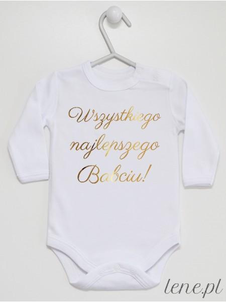Wszystkiego Najlepszego Babciu Złoty - body niemowlęce