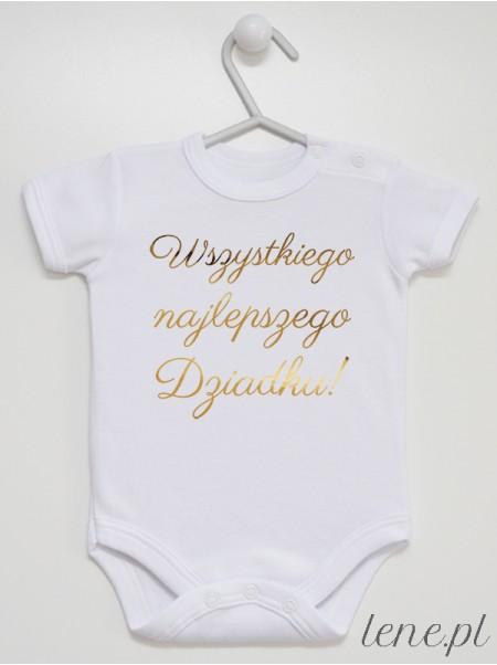 Wszystkiego Najlepszego Dziadku Złoty - body niemowlęce