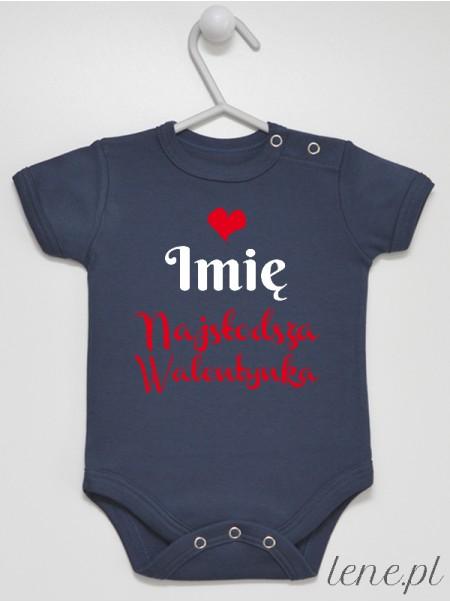 Najsłodsza Walentynka Z Imieniem - body niemowlęce