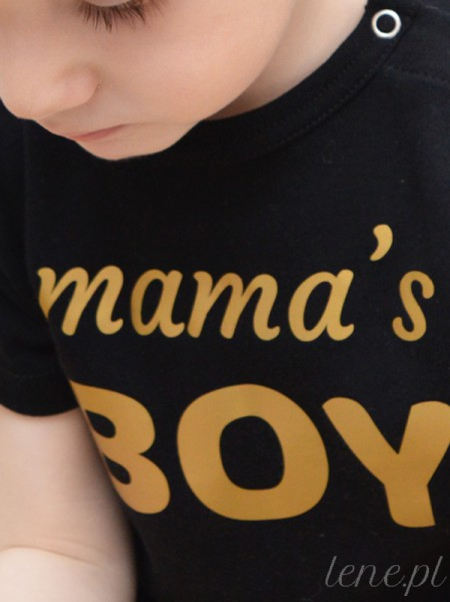 Mama's Boy Złoty Nadruk - body niemowlęce