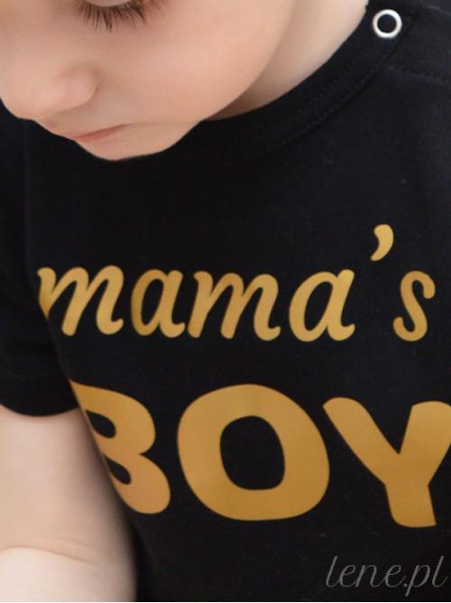 Body niemowlęce Mama's Boy Złoty Nadruk