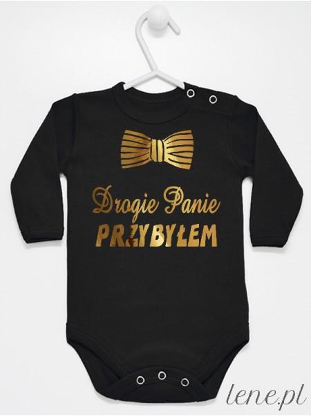 Drogie Panie Przybyłem Złoty - body niemowlęce