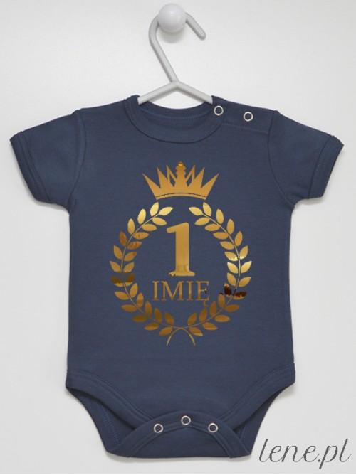 Body niemowlęce Jedynka Z Imieniem W Koronie