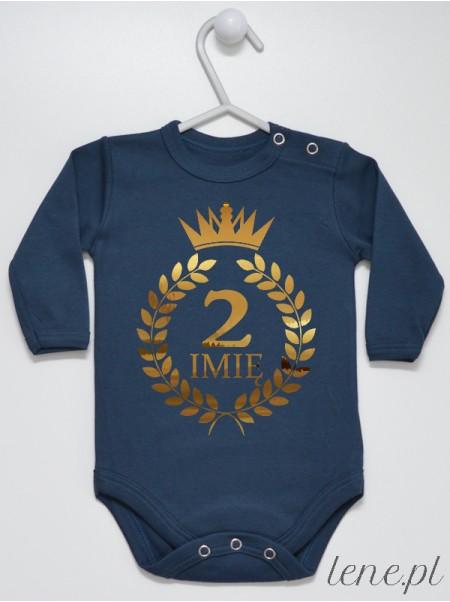 Dwójka Z Imieniem W Koronie - body niemowlęce