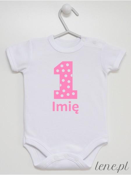 Na Roczek + Imię 01 - body niemowlęce