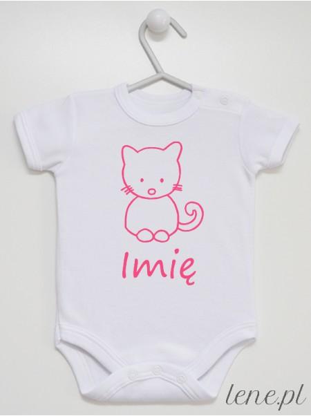 Kotek + Imię - body niemowlęce