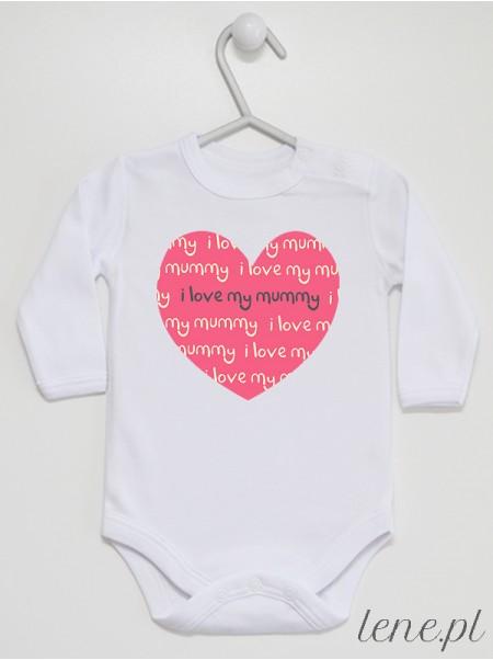 Serce I Love My Mummy - body niemowlęce