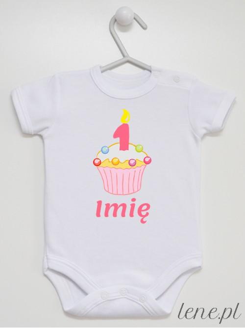 Body niemowlęce Muffinka Roczek + Imię 03