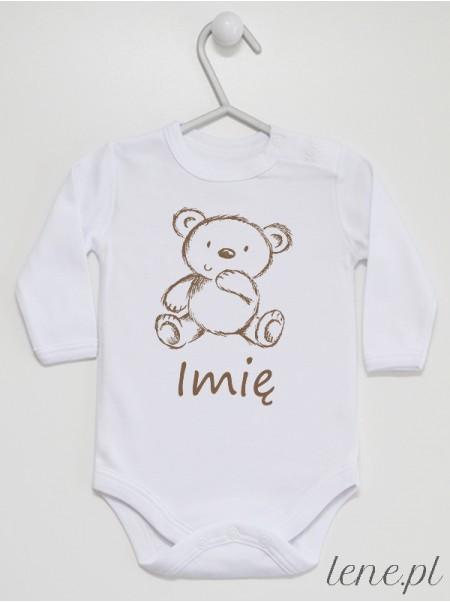 Miś + Imię - body niemowlęce