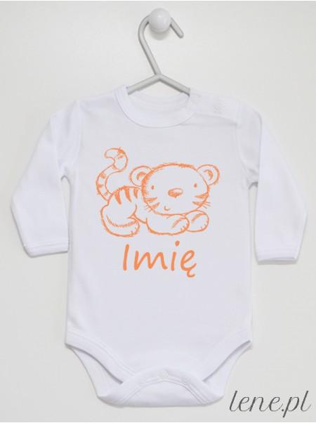 Tygrysek + Imię - body niemowlęce