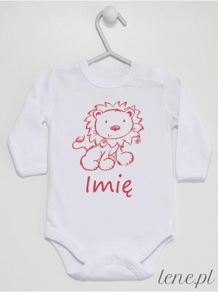 Lew + Imię - body niemowlęce