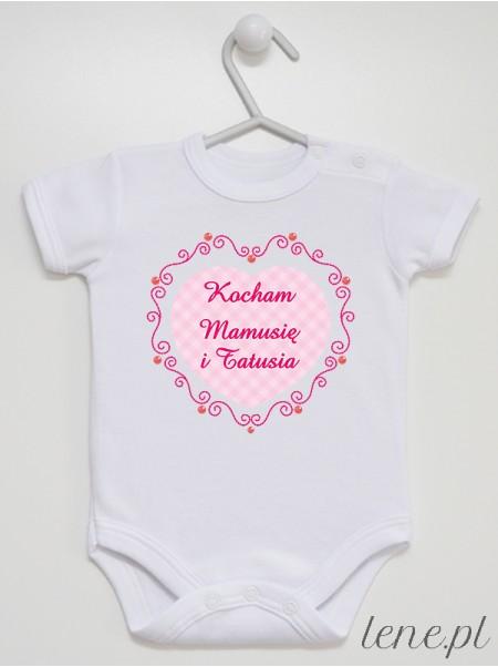Kocham Mamusię I Tatusia 01 - body niemowlęce