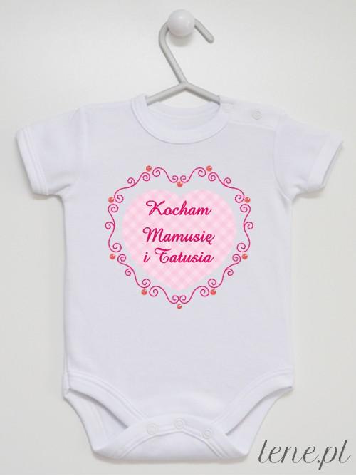 Body niemowlęce Kocham Mamusię I Tatusia 01
