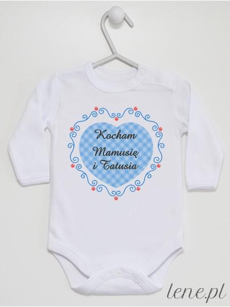 Kocham Mamusię I Tatusia 02 - body niemowlęce
