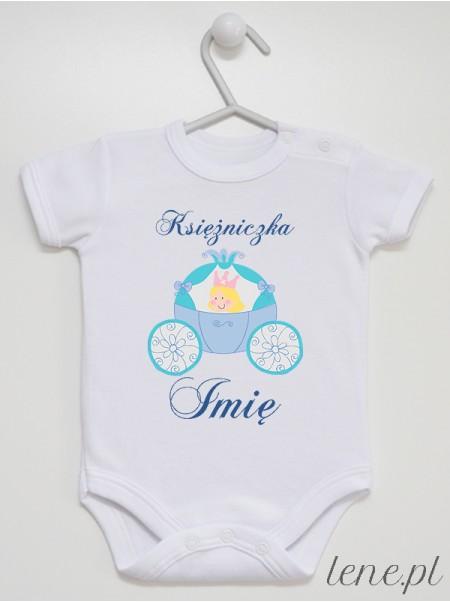 Księżniczka + Imię 04 - body niemowlęce