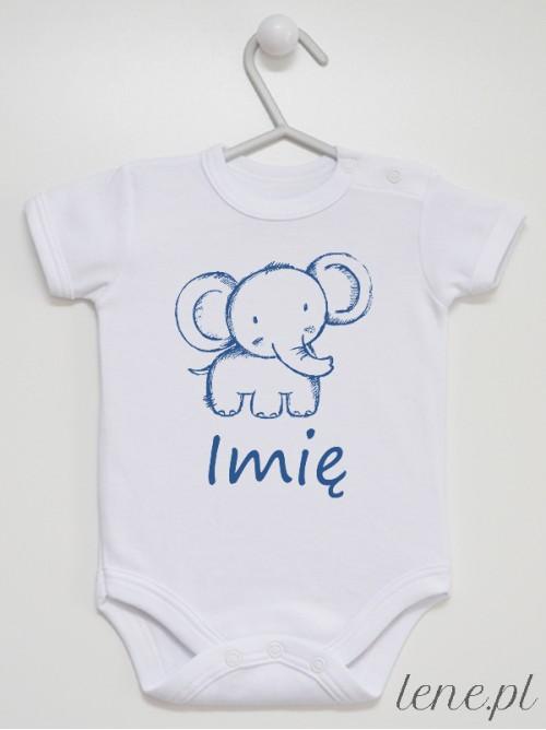 Body niemowlęce Zoo Słonik + Imię