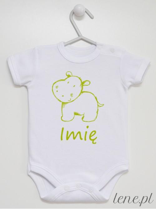 Body niemowlęce Zoo Hipopotam + Imię