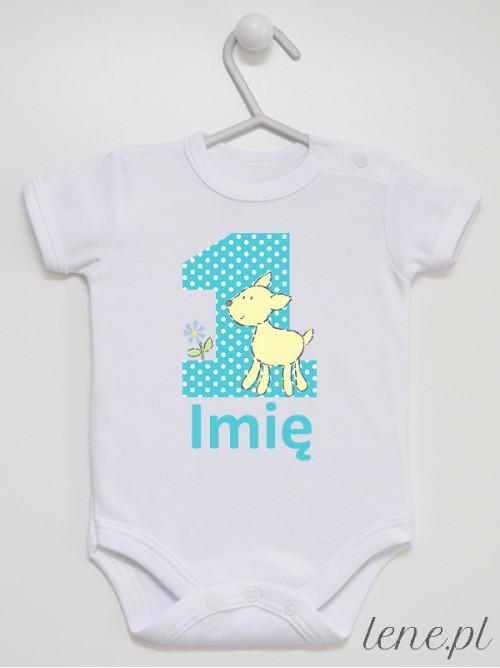 Body niemowlęce 1 Urodziny + Imię 01