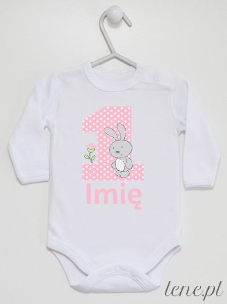 Pierwsze Urodziny + Imię 02 - body niemowlęce