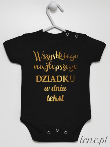 Życzenia Dla Dziadka Z Tekstem - body niemowlęce