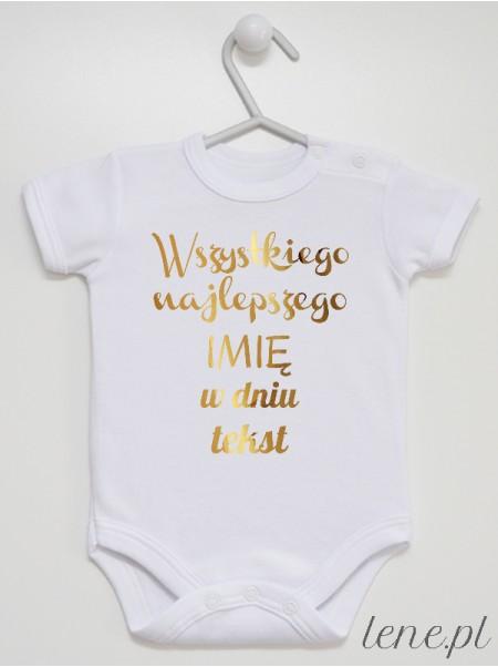 Życzenia Z Tekstem - body niemowlęce